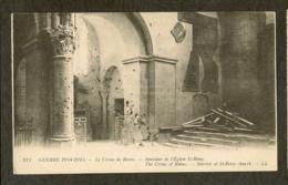 CP-Militaria - REIMS - Intérieur De L'Eglise St-Rémy - Le Crime De Reims - Guerra 1914-18