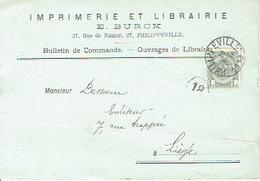 CP/PK Publicitaire PHILIPPEVILLE 1910 - E. BURCK - Imprimerie - Librairie - Philippeville