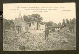 CP-Militaria - Berzieux (MARNE) - En CHAMPAGNE - Bombardé Depuis Un An, Ce Village Est Détruit - Guerre 1914-18
