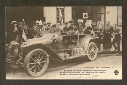 CP-Militaria - Croquis De Guerre 1914 - Madame Macherez En Voiture - Oorlog 1914-18