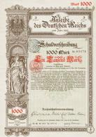 Duitse Obligatie 1890 Anleihe Des Deutschen Reichs - Actions & Titres