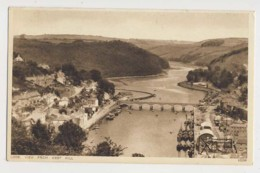 AJ63 Looe, View From West Hill - River, Bridge, Boats - England
