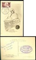 France 1955 Carte Maximum Auguste Et Louis Lumière Mi 1059 - Maximum Cards