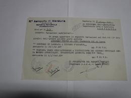 MANDURIA  -- TARANTO  --  R. AEROPORTO DI MANDURIA - Italia