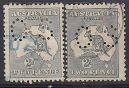 AUSTRALIEN Dienstpost 1915 - MiNr: 35 I+IIx  Lochung II  Used - Dienstpost