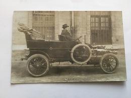 Belle Carte Photo Automobile Ancienne Vers 1900 - Automobiles