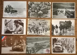 Lot De 9 Cartes Postales / Débarquement De Normandie - War 1939-45
