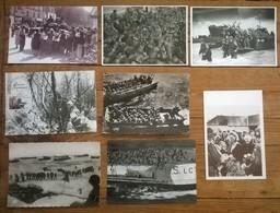 Lot De 8 Cartes Postales / Débarquement De Normandie - War 1939-45