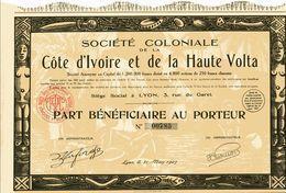 Société Coloniale De La CÔTE D'IVOIRE Et De La HAUTE VOLTA - Afrique