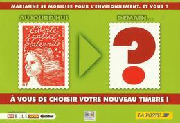 Quel Timbre Pour Succéder à La Marianne De Luquet ? Carte émise Par La Poste - 1997-04 Marianna Del 14 Luglio