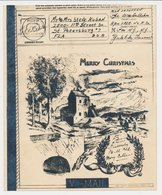 V-Mail Algeria - USA ( With Envelope ) Bridge - Horse And Carriage - Castle - A.P.O. 398 - Bruggen