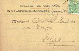 CP/PK Publicitaire TIELT 1910 - VAN LANDEGHEM-MINNAERT - Boekhandel Te THIELT - Tielt