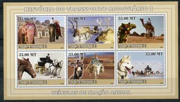 MOZAMBIK 2007 M0100 History Of Transport. Fauna. Elephants. Dogs. Deer Camels Horses. Donkeys Arctic - Other Means Of Transport