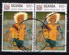 Uganda 1993, Michel# 1252 O     Football World Cup 1994, USA: Carlos Valderrama - World Cup