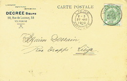 Postkaart Publicitaire VILVORDE 1910 - Header Boekhandel-Drukkerij DECREE Soeurs Te VILVORDE - Vilvoorde
