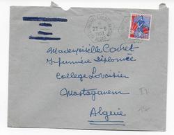 ALGERIE - 1960 - CACHET HEXAGONAL -  ENVELOPPE De LA CITE UNIVERSITAIRE BEN AKNOUN à ALGER - Lettres & Documents