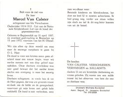 Devotie - Doodsprentje Overlijden - Oudstrijder Marcel Van Calster - Begijnendijk 1887 - Booischot 1972 - Décès