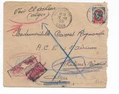 ALGERIE - 1951 - ENVELOPPE De FRANCHETTI (ORAN) IND 8  => ALGER Avec RETOUR ANNULE Et READRESSE - Lettres & Documents
