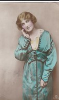 AR03 Glamour - A British Beauty - Handpainted Rotary Photo Postcard - Women