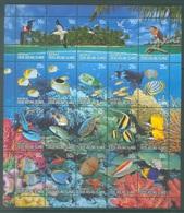COCOS - MNH/*** LUXE  - 2006 - TURTLE FISH BIRDS FAUNA MINISHEEET - Yv 405-424 - Lot 18882 - Cocos (Keeling) Islands