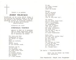Devotie - Doodsprentje Overlijden - Oudstrijder Jozef Tilburgs - Meer 1893 - 1976 - Décès