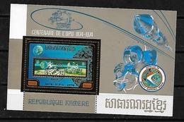 #B131#REP. KHMERE MICHEL BL 60A  MNH** . SPACE. UPU, GOLD STAMP. - Cambodge