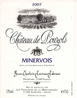 MINERVOIS CHATEAU DE LOUZOLS 2007 (3) - Languedoc-Roussillon