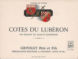 COTES DU LEBURON GRIVELET PERE ET FILS (3) - Etiquettes