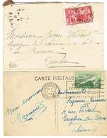TIMBRES JO 1924 SUR LETTRE ET CARTE POSTALE DANS LEUR USAGE POSTAL - Sommer 1924: Paris