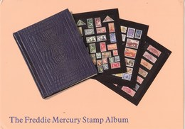 Engeland - National Postal Museum Londen -The Freddie Mercury Stamp Album - 4 Kaarten - Ongebruikt - Postzegels (afbeeldingen)