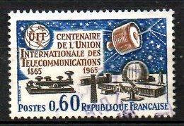 FRANCE. N°1451 Oblitéré De 1965. U.I.T./Télégraphe. - Telecom