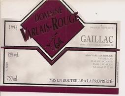 GAILLAC DOUX DOMAINE VARLAIS-ROUGE 1996 (3) - Gaillac