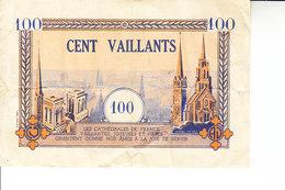 D23 - RELIGION - JEUNESSE - BILLET DE CENT VAILLANTS - MOUVEMENT DES COEURS VAILLANTS ET AMES VAILLANTES - ANNÉES 50 - France
