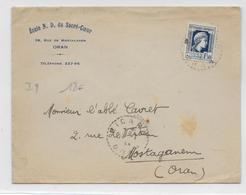 ALGERIE - 1944 - ENVELOPPE De PICARD (ORAN) IND 9 - Algérie (1924-1962)
