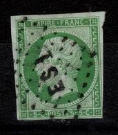 YV 12 Bureau De Quartier ES1 De Paris , 4 Marges , Pas Aminci - 1853-1860 Napoléon III