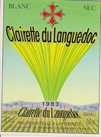 CLAIRETTE DU  LANGUEDOC  BLANC SEC  1993 (3) - Languedoc-Roussillon