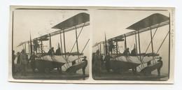 Belle Photo Stéréo Hydravion Français à Salonique Aviation 14-18 12,5 X 6 Cm - 1914-18