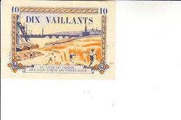 D23 - RELIGION - JEUNESSE - BILLET DE DIX VAILLANTS - MOUVEMENT DES COEURS VAILLANTS ET AMES VAILLANTES - ANNÉES 50 - France