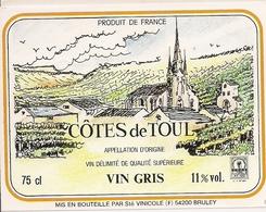 COTES DE TOUL VIN GRIS (3) - Etiquettes