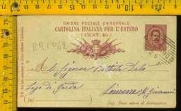 Regno Umberto Cartolina Intero Postale Lago Di Garda Limone Da Milano - Poststempel