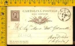 Regno Umberto Cartolina Intero Postale Lago Di Garda Bardolino Da Lecco - 1878-00 Umberto I