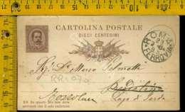 Regno Umberto Cartolina Intero Postale Lago Di Garda Toscolano Da Roma - 1878-00 Umberto I