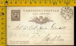 Regno Umberto Cartolina Intero Postale Lago Di Garda Bardolino Da Busto Arsizio - 1878-00 Umberto I