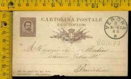 Regno Umberto Cartolina Intero Postale Lago Di Garda Bardolino Da Verona - 1878-00 Umberto I