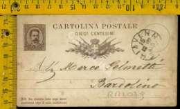 Regno Umberto Cartolina Intero Postale Lago Di Garda Bardolino Da Chiavenna - 1878-00 Umberto I