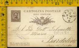 Regno Umberto Cartolina Intero Postale Lago Di Garda Bardolino Da Padova - 1878-00 Umberto I
