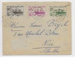 ALGERIE - 1942 - ENVELOPPE De MEDEA (ALGER) UTILISATION TARDIVE De CE TYPE De CACHET ! - Algérie (1924-1962)