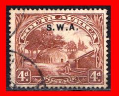 SUIDWES AFRICA SELLO AÑO AÑO 1927-28 NATIVE KRAAL - Oficiales