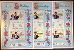 Anguilla 1981 Royal Wedding Sheetlets MNH - Anguilla (1968-...)