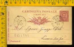 Regno Umberto Cartolina Intero Postale Lago Di Garda Limone Da Tremosine - 1878-00 Umberto I